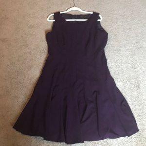 Dana Buchman Purple Fit & Flare Dress